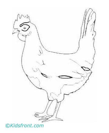 Hen Coloring Pages
