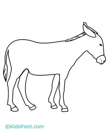 Donkey coloring pages printable for Donkey coloring page