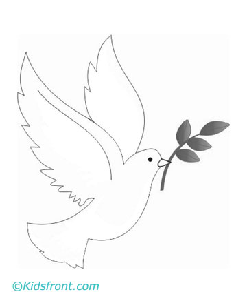 Coloring Pages Of Doves Print dove coloring pages