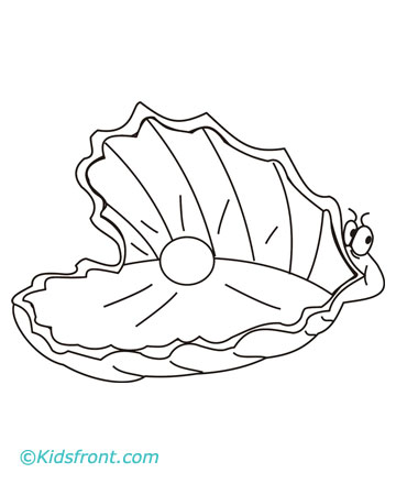 Clam Free Coloring Pages